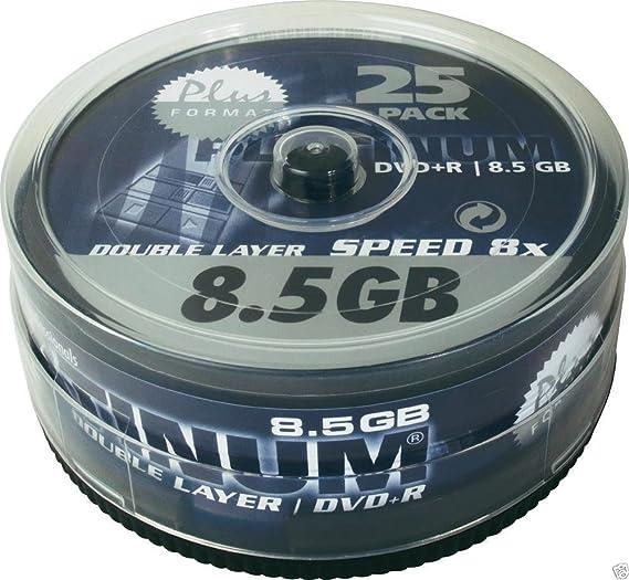 25 Stück Platinum Dvd R Double Layer 8 5 Gb 240 Minuten Computer Zubehör