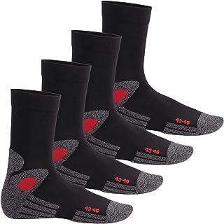 mujeres + hombres - 4 pares de calcetines de senderismo - suela de rizo