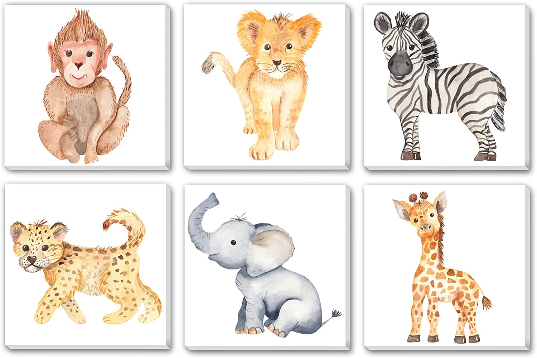 TEXTURE OF Sales DREAMS Watercolor Cute Pri Africa Jungle Animals In stock Baby