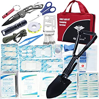 First Aid Kit Home Comprehensive 31 Items 141 Piece Soft Case Bag for Camping Hiking Car Emergency Survival Outdoor Sports Office by DIGGOLD