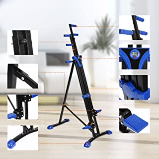 Moroly Vertical Climber 2 in 1 Climbing Stepper Folding Exercise Machine,Fitness Equipment Climber Home Gym Cardio Workout Body Trainer (US Stock)