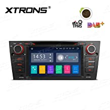 XTRONS Android 8.1 7 inch Touch Display Car Stereo Radio DVD Player GPS Navigator with USB SD Port Bluetooth 5.0 Supports OBD 1080P DVR 4G 3G for BMW E90 E91 E92 E93