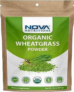 Sponsored Ad - Nova Nutritions Certified Organic Wheat Grass Powder 16 OZ (454 gm) - Nutrient Rich Superfood