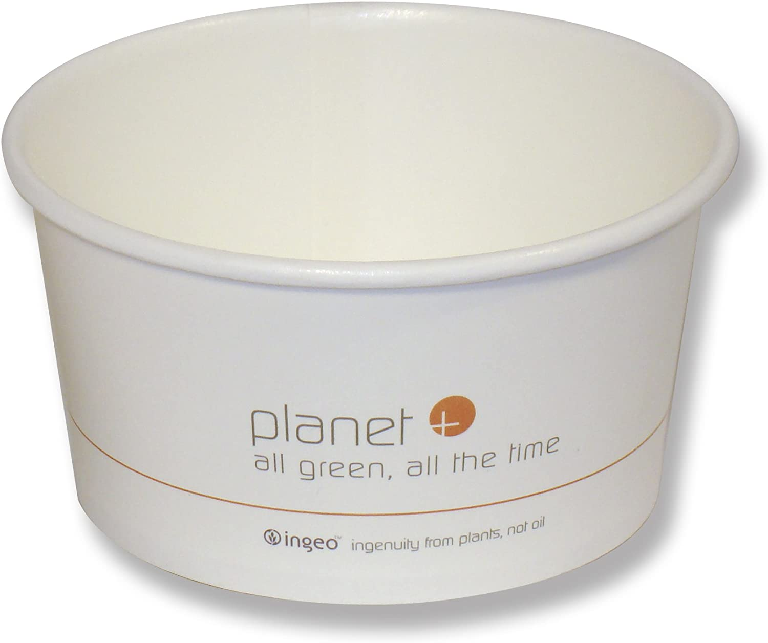 Planet+ 100% Compostable PLA Laminated Food Container, 12-Ounce, 500-Count Case
