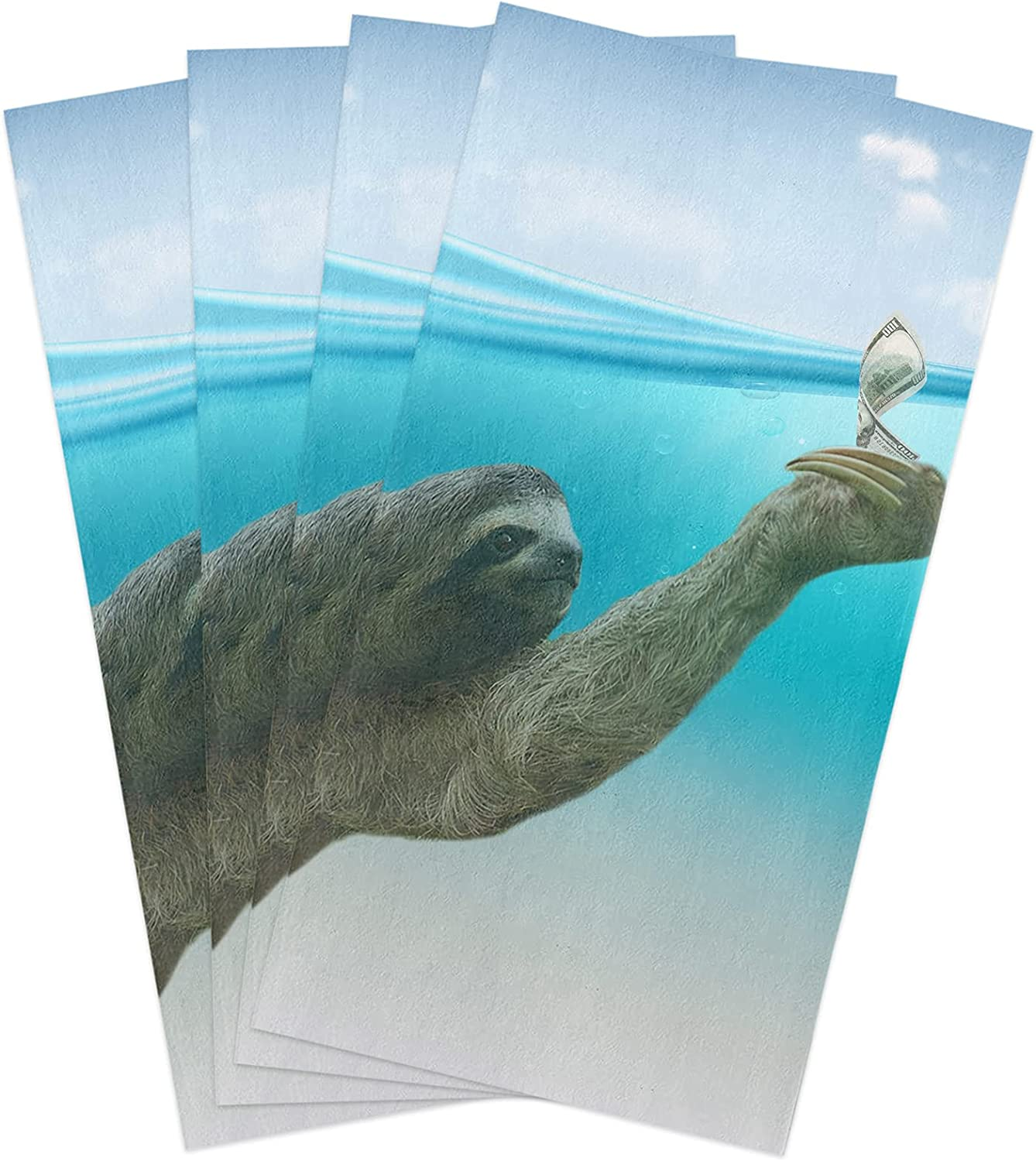 Kitchen Towels Set Sloth in Super special price Max 60% OFF The Sea Towel Ocean Dish Animal Orig