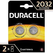 Pile Bouton Lithium Duracell Spéciale 2032 3V, Pack de 2 (DL2032/CR2032), Conçue pour une Utilisation dans les Porte-Clés, Balances et Dispositifs Portables et Médicaux
