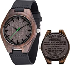Engraved Wooden Watch for Son Dad Personalized Custom Graduation Gift Mom Dad Husband Watch