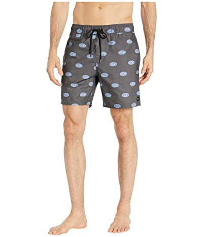 RVCA Out There Elastic Shorts 17 (Pirate Black) Men