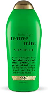 OGX Hydrating + Tea Tree Mint Shampoo, Nourishing & Invigorating Scalp Shampoo with Tea Tree & Peppermint Oil & Milk Prote...
