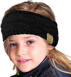 Kids Fuzzy Lined Ages 2-7 Fleeced Headwrap Headband Earwarmer Winter Knit