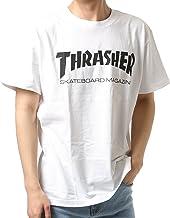 THRASHER スラッシャー メンズ 半袖 Tシャツ MAG LOGO TH8101 WHTBLK XL