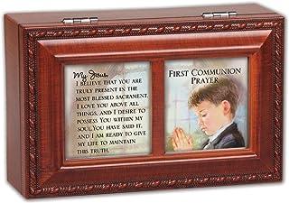Cottage Garden First Communion Prayer Woodgrain Petite Music Box/Jewelry Box Plays Hallelujah