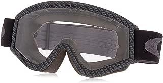 Oakley L-Frame Graphic Frame MX Goggles (Carbon Fiber/Clear Lens Glasses, One Size)