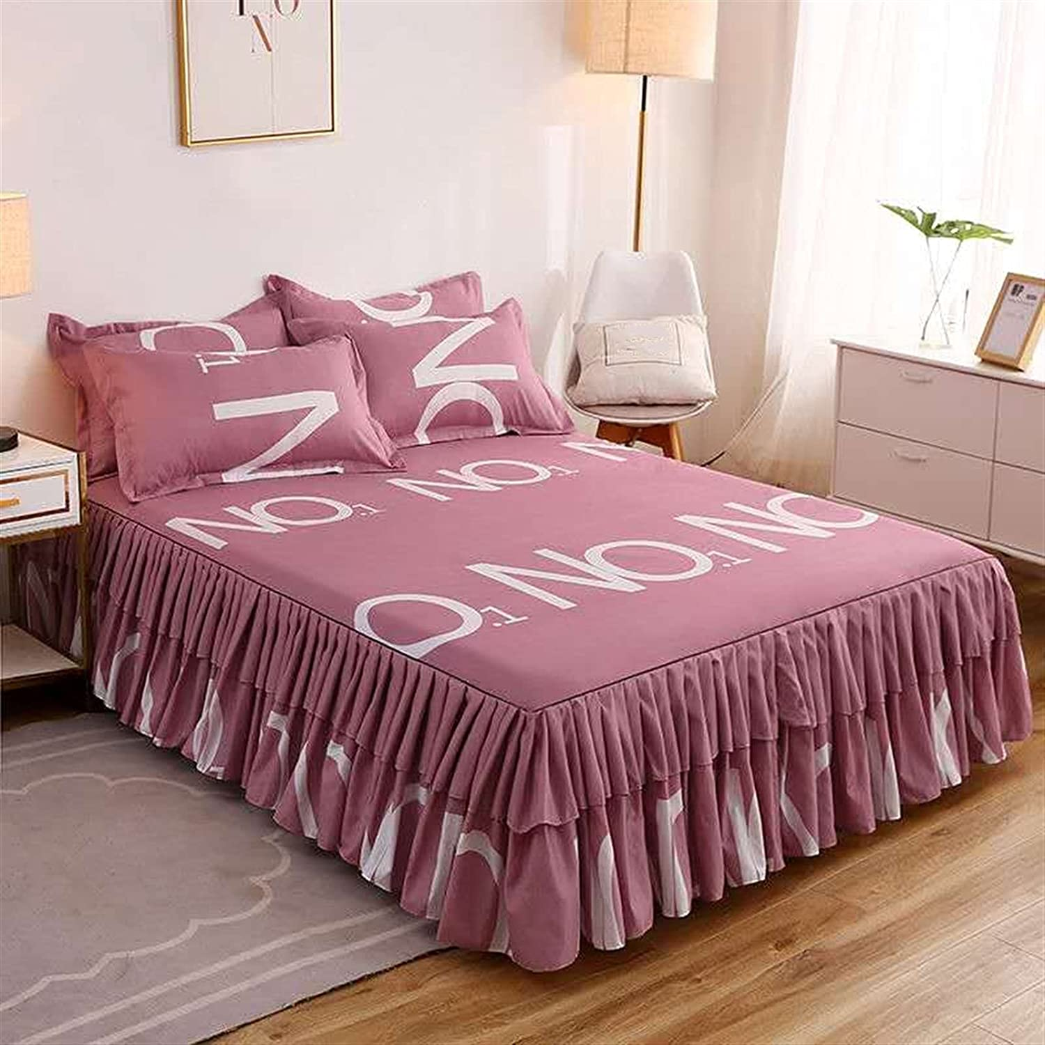 Bed 5 popular Sheet+ Max 77% OFF 2pcs Pillow Covers Skirt Shee Bedspread Thickened