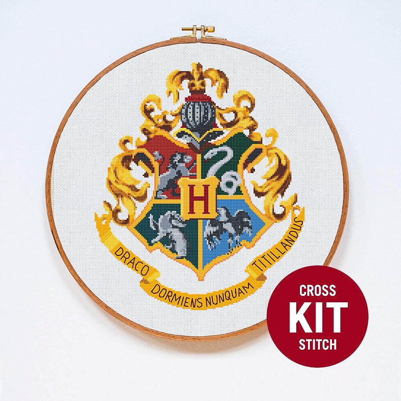 Hogwarts Crest Cross Stitch Kit by Stitchering reojww0130