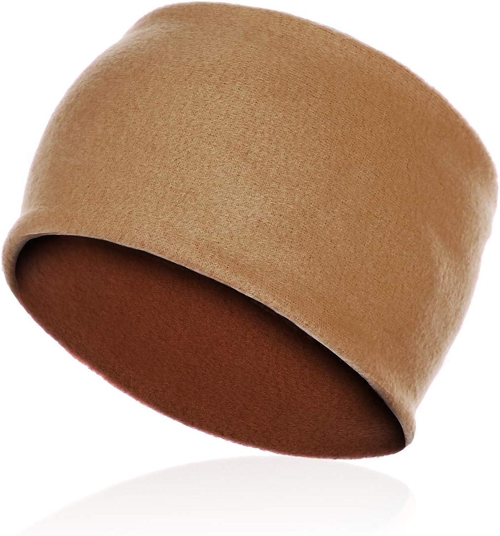 CRIPOP Double-Layer Fleece Headband - Lightweight Warm Soft Winter Ear Covers Warmer Sweatband for Men/Women