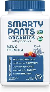 Daily Organic Gummy Men's Multivitamin: Vitamin C, D3 & Zinc for Immunity, Biotin, Omega 3, Selenium, B6, Methyl B12 for E...