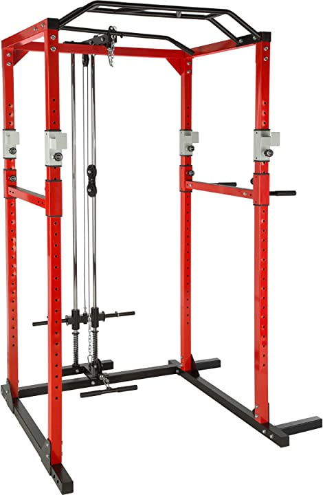 Power rack - tectake macchina multistazione intelaiatura in tubo d`acciaio - palestra - bodybuilding B076V6LBKZ