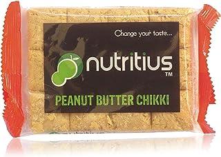 Nutritius Peanut Butter Chikki, 125g (10 Packs) - Family Pack
