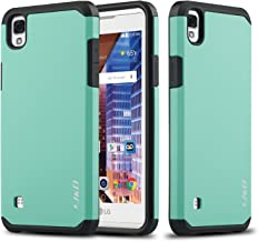 J&D Case Compatible for LG Tribute HD Case, Heavy Duty [Dual Layer] Hybrid Shock Proof Protective Rugged Bumper Case for LG Tribute HD Case - Mint