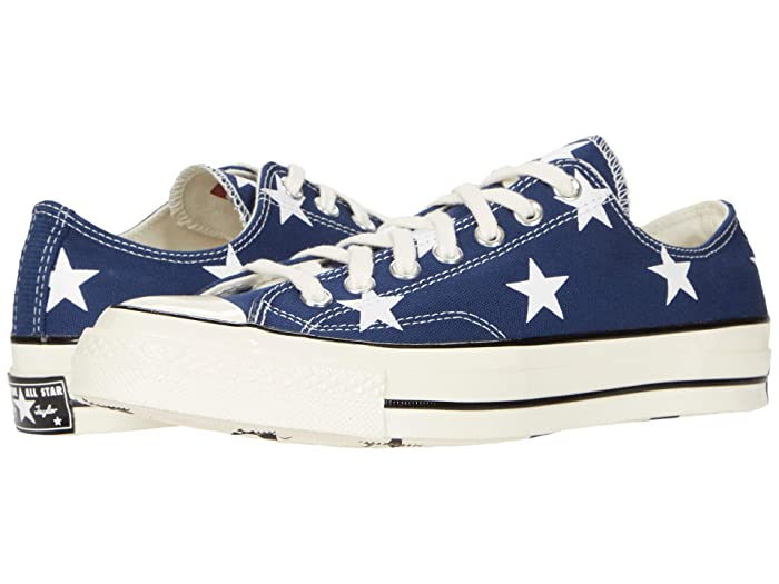 Vintage Sneakers, Retro Designs for Women Converse Chuck 70 Archive Star Print - Ox NavyWhiteEgret Shoes $80.00 AT vintagedancer.com