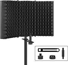 فیلتر Pop، Aokeo حرفه ای میکروفون جداسازی سپر، پنل جدا کننده میکروفون قابل تنظیم قابل تنظیم برای هر استودیو تجهیزات ضبط میکروفون کندانسور (AO-403)