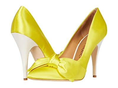 Tory Burch 110 mm Bow Pump (Acidic Yellow/Acidic Yellow) Women