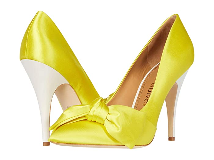 Tory Burch  110 mm Bow Pump (Acidic YellowithAcidic Yellow) Womens Shoes