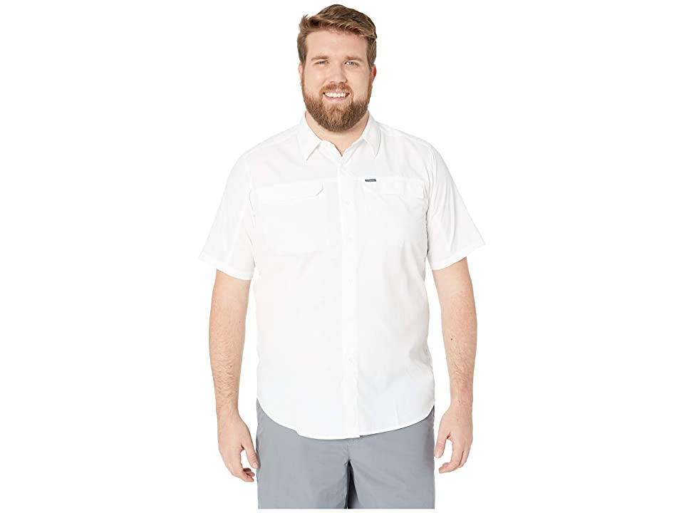 Image of Columbia Big and Tall Silver Ridge 2.0 Short Sleeve Shirt (White) Men's Short Sleeve Button Up