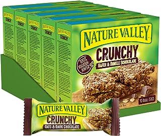 Nature Valley Crunchy Hafer und Dunkle Schokolade, Müsliriegel, 5er Pack 5 x 210g Multipack mit je 10 Riegeln