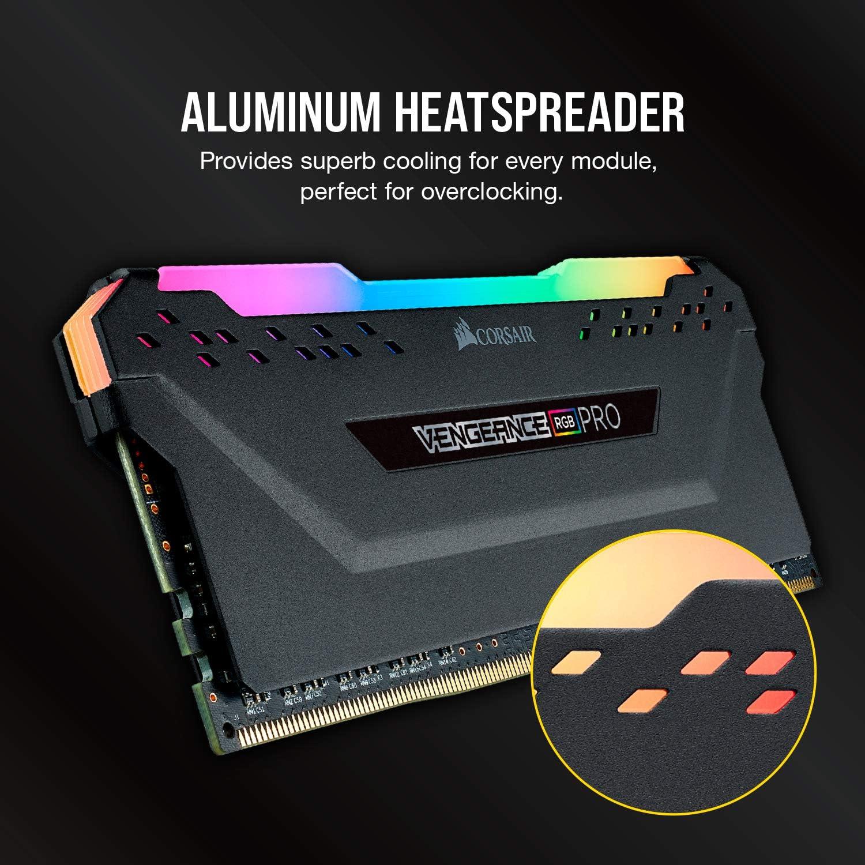 C16 Desktop memory 2x16GB DDR4 3200 Black Corsair VENGEANCE RGB PRO 32GB PC4-25600