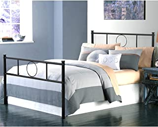 GreenForest Twin Bed Frame Platform with Headboard and Stable Metal Slats Mattress Base Boxspring Replacement,