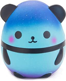 WATINC 1 Pcs Jumbo Squishy Cute Starry Sky Panda Cream Scented Slow Rising Squishy Charms Lovely Toy for Fun Stress Relief Large Kawaii Decoration Toy