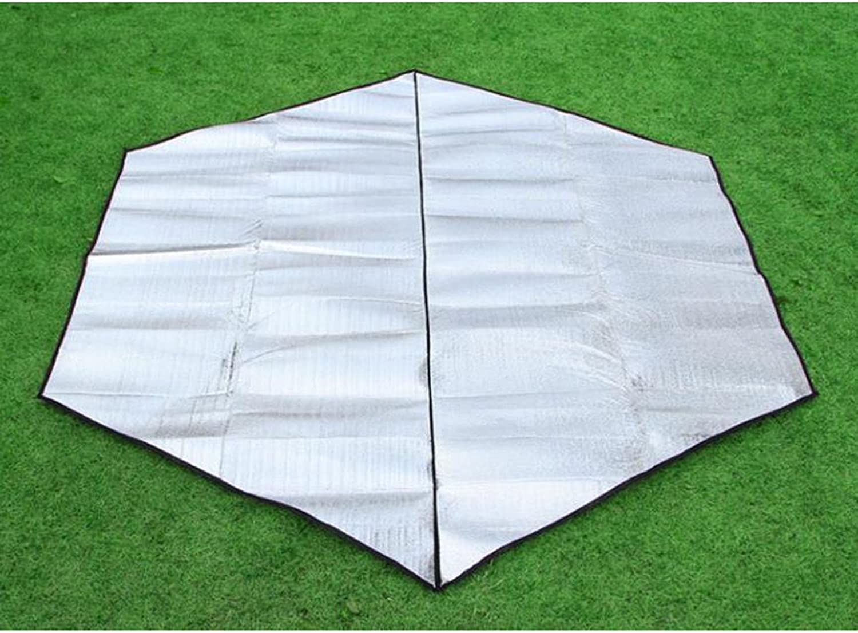 Picnic Blanket Outdoor Hexagonal Foil Moisture Proof Camping Portable Sleeping Mat Crawling Blanket