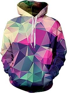 Mens Womens Hooded Sweatshirt Realistic 3D Print Fleece Pullover Hoodie with Big Pockets