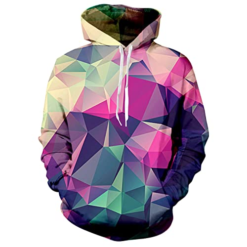 4e27083a5c29 RAISEVERN Unisex 3D Printed Pullover Long Sleeve Fleece Hooded Sweatshirts  with Pockets