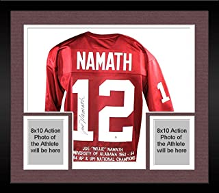 Framed Joe Namath Alabama Crimson Tide Signed Custom Jersey with Embroidered Stats - Steiner Sports Certified