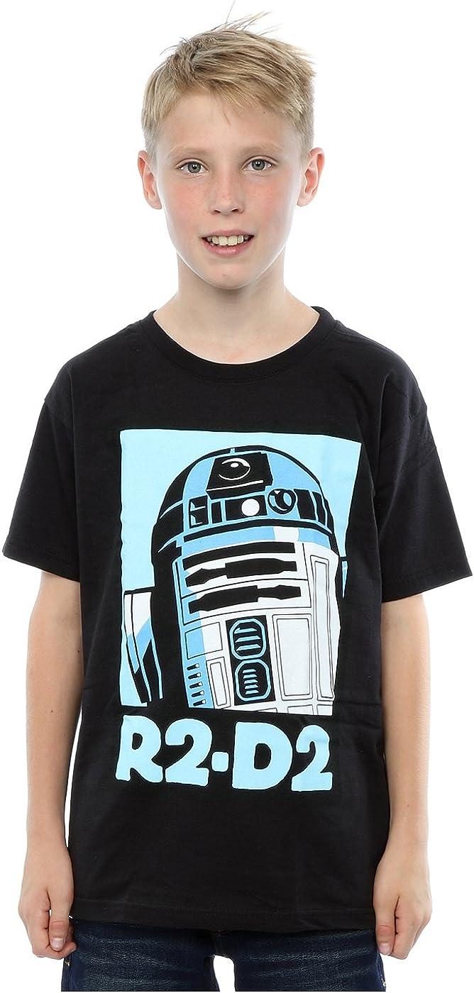 STAR WARS Boys R2-D2 Poster T-Shirt 9-11 Years Black