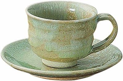 信楽焼 へちもん みぞれ雪 コーヒー碗皿