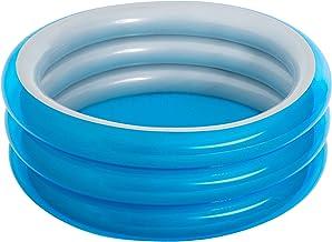حوض سباحة قابل للنفخ بثلاث حلقات للاطفال من بيست واي 51041 - ازرق ميتاليك