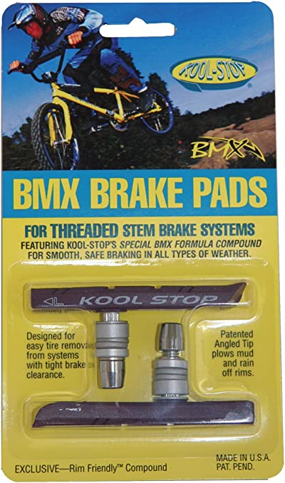 Sold In Pairs Old School BMX Tuffs Kool Stop BMX Continental Yellow Brake Pads