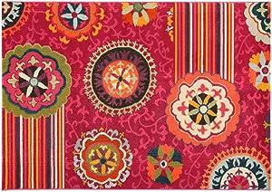 ABC, Tangeri 2, Tappeto, Multicolore (Rosso/Marrone/Nero), 160 x 230 cm