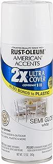 Rust-Oleum 280722-6 PK American Accents Ultra Cover 2X Semi-Gloss, 6 Pack, White