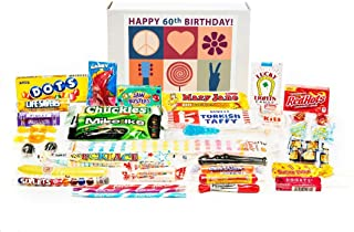 Woodstock Candy ~ 60th Birthday Gift Box of Nostalgic Retro Candy from Childhood - Peace, Love and Happiness Jr