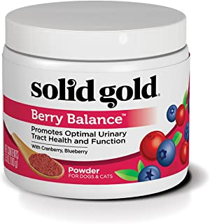 Solid Gold Dog & Cat Supplements for Urinary Tract Health and Testing; Berry Balance Chews and Powder with Antioxidant-ric...