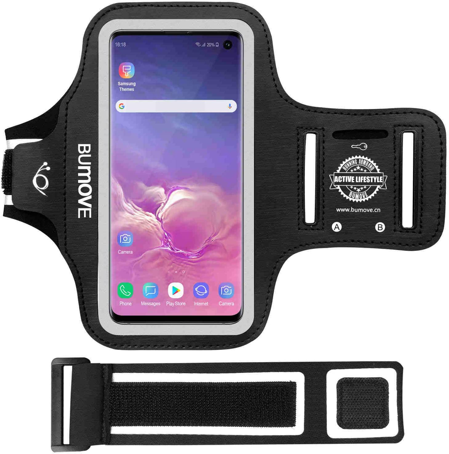 Galaxy S10e Armband BUMOVE Gym Sports Running Pho San Jose Mall Workouts Time sale Cell