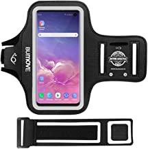 Galaxy S10e Armband, BUMOVE Gym Running Workouts Sports Cell Phone Arm Band for Samsung Galaxy S10e with Key/Card Holder (...