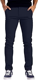 westAce Mens Chino Trousers Slim Fit Stretch Twill Casual Pants