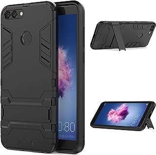comprar comparacion LXHGrowH Funda Huawei P Smart, Fundas 2in1 Dual Layer Anti-Shock 360° Full Body Protección TPU Silicona Gel Bumper y Duro ...