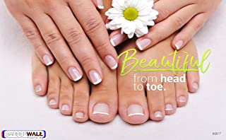 Poster For Nail Salon - Nail Salon Poster by BARBERWALL - Manicure and Pedicure Poster - Dimension 24 x 36 Laminated, Beautiful Brilliant Image